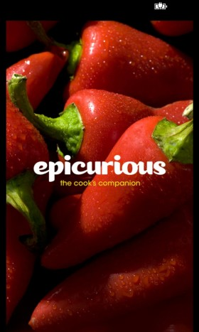 Epicurious App splash screen
