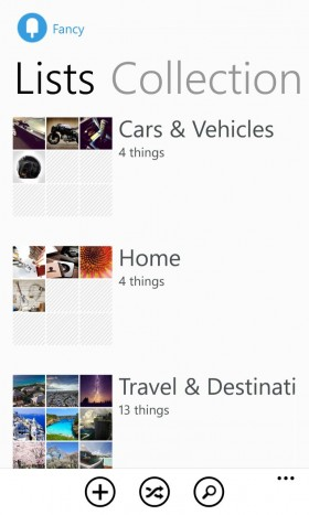Windowsphone App fancy list